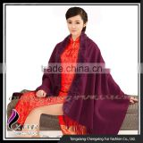 CX-B-P-41D 2015 Autumn Newest Cashmere Shawl Fur Cape