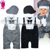 Trendy Baby Boy Wedding Formal Party Bow Tie Tuxedo Suit Romper Jumpsuit Outfit Clothes