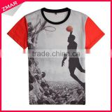 Fashion Basketball Team Polyester Sublimation China Wholesale T-shirt 3D Printing
