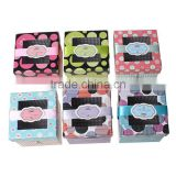 Paper Party Gift Boxes Square At Random Heart Dot Pattern