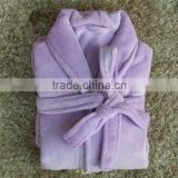 Short size Coral fleece Purple bathrobes for woman