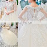 gt907 sleeveless organza elegant cape long train beaded arab bridal gown wedding dress