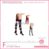 Carnival party Fashion Striped Long Knee Thigh Stockings High Stockings Wholesale Girls Cotton Thigh Stockings