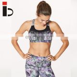 Beauty sublimation printing sexy women sports yoga bra with padding
