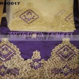 Latest Indian George with carmine blouse high quality Silk George lace (5 yards) matching net french lace (1.5 Yard)