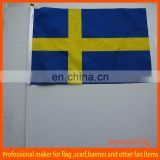 hand held wholesale sweden hand flag