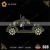 Retro car design hot fix rhinestone motif/strass for T-shirt