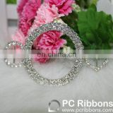 Wholesale decorative rhinestone ribbon buckle sliders