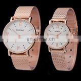 Newest style western mens wrist watch gold watch