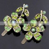 2013 newest fashion alloy colorful flower rhinestone hair clip