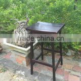 acacia wood outdoor bar set - grey wash bar chair and table - made in vietnam outdoor furniture
