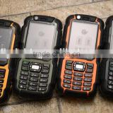 A12 Walkie-talkie cheap bar phone with dustproof shockproof rugged body for Miner Security staff port and wharf