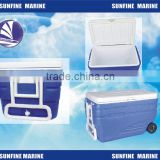 47L/80L/10L Cooler box with pull rod/ Portable cool box car fridge/ cup holder for car/boat/camping/lorry/truck