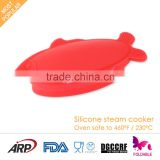 100% Silicone Kitchenware Foldable optima steamer                                                                                                         Supplier's Choice