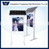 led waterproof advertising billboard aluminum frame solar power light box