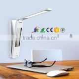 Wall-hanging battery led table lamp with LCD calendar alarm clock