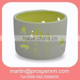 Shape heart wholesale ceramic tea light candle holder