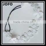Wedding Bride Bridal Romantic White Lace Flower Cream Pearl Headband Hair Band Hair Accessories
