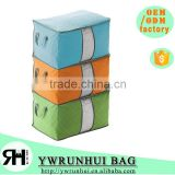 Eco-friendly Bamboo Folding Bedding & Cloth Storage bag Dust Cover Organizer                                                                         Quality Choice