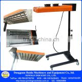 "CE Proved ND602 silk screen printing Flash dryer for screen printing adjustable stand t-shirt baking area 20"" *24"""