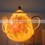 porcelain unique home decor teapot night light