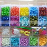 Wholesale Hot Sell Ecofriendly Multi Color Rubber Loom Bands Kit for children diy bracelet jewelery
