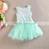 2016 Summer Baby Girl Toddler Lace Clothing Dress For Infant Floral Princess Dress Children's Dresses kids Clothing wh-1625