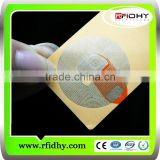 Transparent&Adhesive Printed UHF rfid inlay/rfid wet inlay for RFID and NFC Stickers