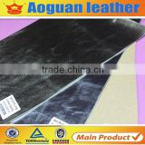2016 High quality Pig Split pig skin pu leather fabric with metal film for shoes Lining                                                                                                         Supplier's Choice