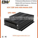 HD 4G WIFI 4 Ch 720P AHD HDD Mobile DVR For Car