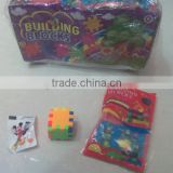 Blocks toy in bag with candy
