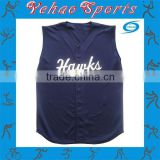 Sleeveless baseball jersey custom made with badge