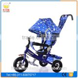 2016 New Luxury metal frame Children Tricycle with canopy/Kids tricycle with rubber wheel
