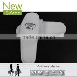 high quality open toe hotel EVA sole disposable slipper white terry slipper with logo embroidered