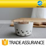 5.5'' household ceramic rice bowl with wooden lid                                                                         Quality Choice