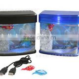 Mini USB Desktop Artificial Fish Tank Aquarium