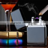 2016 Male gift Arc Lighters metal USB Rechargeable Flameless Electric Arc Windproof Cigar Cigarette Lighter