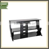 cheap antique black metal glass modern high gloss white tv stand