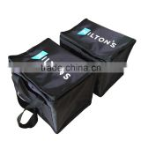 portable double handles customized 210D polyester thermal insulated freezer bag with front pocket                                                                         Quality Choice