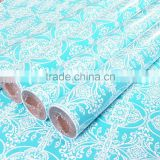 custom printed wrapping paper 80GSM glossy art bond lwc paper gift wrapping paper roll China supplier Alibaba