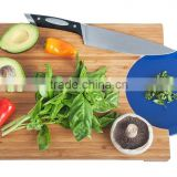 new design bamboo cutting board with insert a plate Countertop Kitchen Carving Board chopped food to a plate quickly