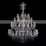 Fancy candle lamp large banquet hall chandelier crystal