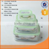 microwave use borosilicate glass food storage container rectangle shape150ml/380ml/900ml/1600ml