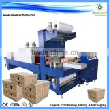 Automatic Shrink-Wrapping Packing Machine for bottle/ PE film wrap-shrinking machine/PET bottle packing plant