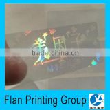 Warranty authenticity transparent hologram sticker