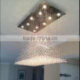 Modern Rain Drop Crystal Ball Pendant Chandelier LED Lighting Fixture                                                                         Quality Choice