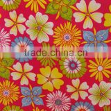 flower aitificial supplier paper printing fabric 100% poly crepe fabric