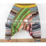 3228 Cotton boho harem pant Boho style baggy pants balloon casual shirred waist pants Silk Harem shirred waist Trouser