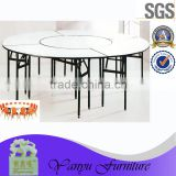 big combination round folding banquet furniture restaurant banquet dinning table for hotel