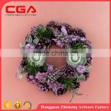 wholesale christmas garland,round shape,beautiful wreath decoration,xmas tree assessories